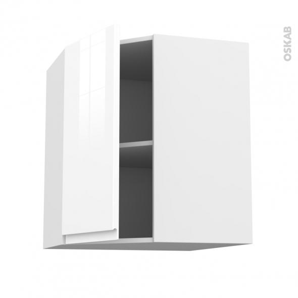 Meuble de cuisine - Angle haut - IPOMA Blanc - 1 porte N°19 L40 cm - L65 x H70 x P37 cm