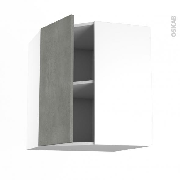 FAKTO Béton - Meuble angle haut  - 1 porte N°19 L40 - L65xH70xP37