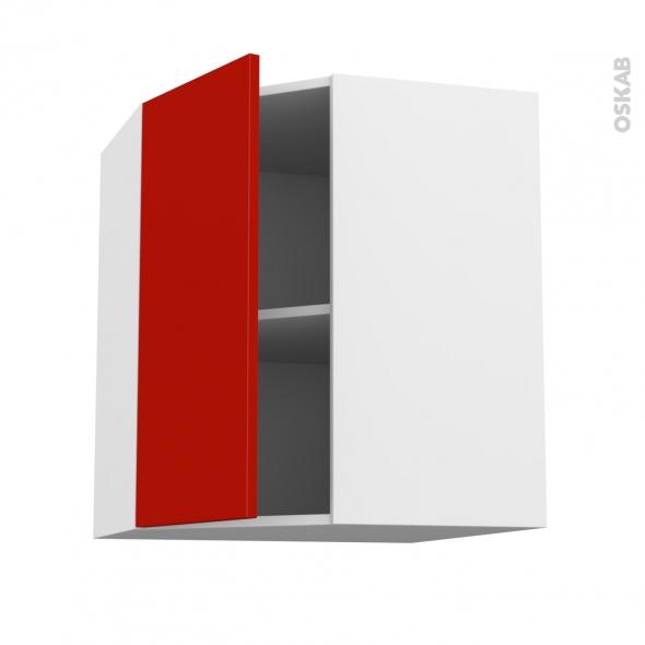 GINKO Rouge - Meuble angle haut  - 1 porte N°19 L40 - L65xH70xP37