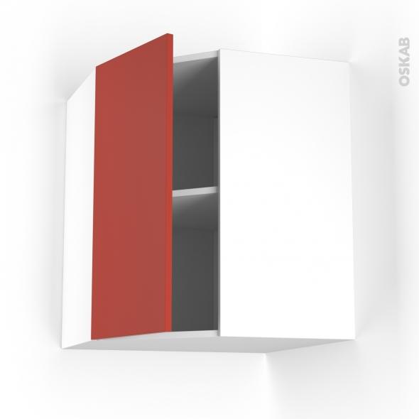 HELIO Rouge - Meuble angle haut  - 1 porte N°19 L40 - L65xH70xP37