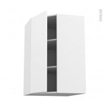 Meuble de cuisine - Angle haut - GINKO Blanc - 1 porte N°23 L40 cm - L65 x H92 x P37 cm