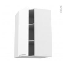 Meuble de cuisine - Angle haut - PIMA Blanc - 1 porte N°86 L40 cm - L65 x H92 x P37 cm