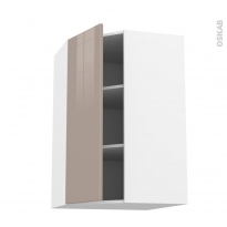 Meuble de cuisine - Angle haut - KERIA Moka - 1 porte N°23 L40 cm - L65 x H92 x P37 cm
