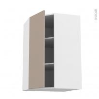 Meuble de cuisine - Angle haut - GINKO Taupe - 1 porte N°23 L40 cm - L65 x H92 x P37 cm