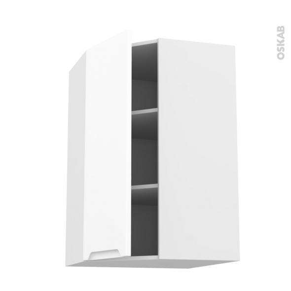 PIMA Blanc - Meuble angle haut  - 1 porte N°23 L40 - L65xH92xP37