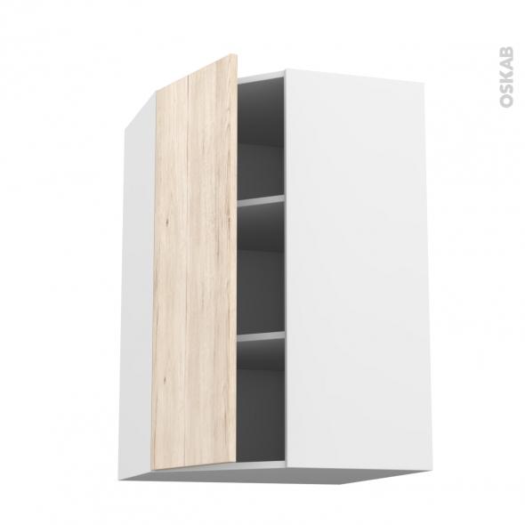 IKORO Chêne clair - Meuble angle haut  - 1 porte N°23 L40 - L65xH92xP37