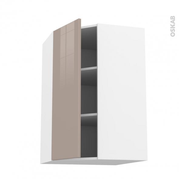 KERIA Moka - Meuble angle haut  - 1 porte N°23 L40 - L65xH92xP37