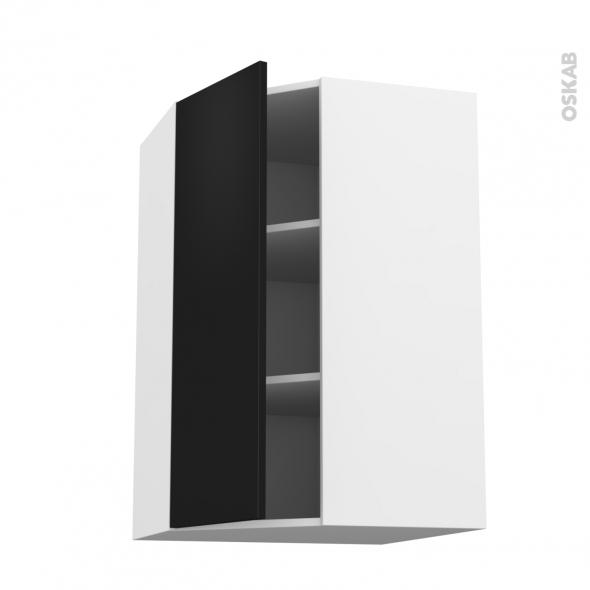 GINKO Noir - Meuble angle haut  - 1 porte N°23 L40 - L65xH92xP37