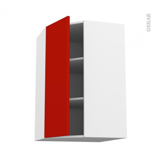 GINKO Rouge - Meuble angle haut  - 1 porte N°23 L40 - L65xH92xP37