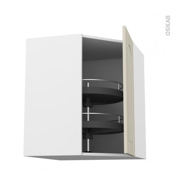 SILEN Argile - Meuble angle haut - Tourniquet 1 porte N°23 L40 - L65xH92xP37 - droite