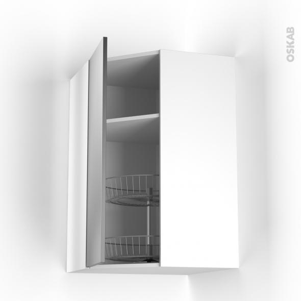 STILO Inox - Meuble angle haut - Tourniquet 1 porte N°23 L40 - L65xH92xP37