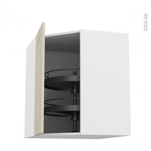 SILEN Argile - Meuble angle haut - Tourniquet 1 porte N°19 L40 - L65xH70xP37 - gauche