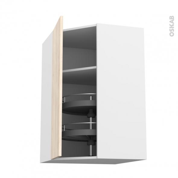 IKORO Chêne clair - Meuble angle haut - Tourniquet 1 porte N°23 L40 - L65xH92xP37