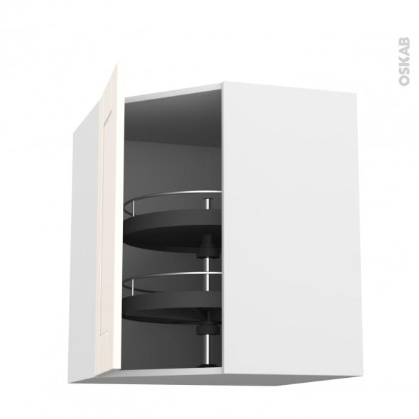 FILIPEN Ivoire - Meuble angle haut - Tourniquet 1 porte N°19 L40 - L65xH70xP37