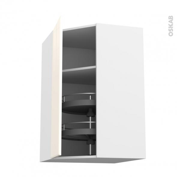 IRIS Ivoire - Meuble angle haut - Tourniquet 1 porte N°19 L40 - L65xH70xP37