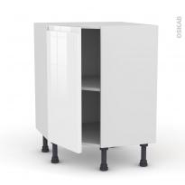 Meuble de cuisine - Angle bas - IPOMA Blanc - 1 porte N°19 L40 cm - L65 x H70 x P37cm