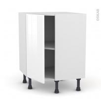 Meuble de cuisine - Angle bas - IRIS Blanc - 1 porte N°19 L40 cm - L65 x H70 x P37cm