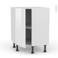 STECIA Blanc - Meuble angle prof.37  - 1 porte N°19 L40 - L65xH70xP37