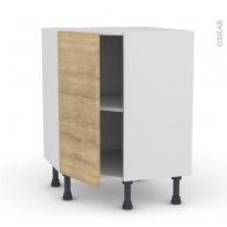 Meuble de cuisine - Angle bas - HOSTA Chêne naturel - 1 porte N°19 L40 cm - L65 x H70 x P37cm