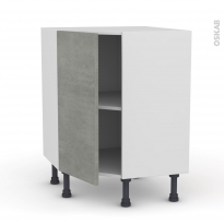 Meuble de cuisine - Angle bas - FAKTO Béton - 1 porte N°19 L40 cm - L65 x H70 x P37cm