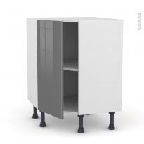 Meuble de cuisine - Angle bas - STECIA Gris - 1 porte N°19 L40 cm - L65 x H70 x P37cm
