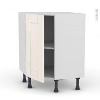 Meuble de cuisine - Angle bas - FILIPEN Ivoire - 1 porte N°19 L40 cm - L65 x H70 x P37cm
