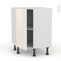 Meuble de cuisine - Angle bas - KERIA Ivoire - 1 porte N°19 L40 cm - L65 x H70 x P37cm
