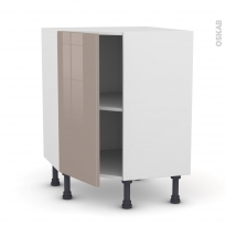 Meuble de cuisine - Angle bas - KERIA Moka - 1 porte N°19 L40 cm - L65 x H70 x P37cm