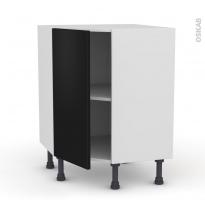 Meuble de cuisine - Angle bas - GINKO Noir - 1 porte N°19 L40 cm - L65 x H70 x P37cm