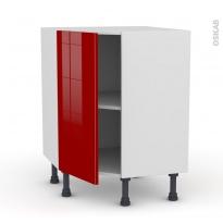 Meuble de cuisine - Angle bas - STECIA Rouge - 1 porte N°19 L40 cm - L65 x H70 x P37cm