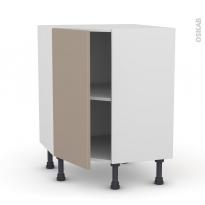 Meuble de cuisine - Angle bas - GINKO Taupe - 1 porte N°19 L40 cm - L65 x H70 x P37 cm