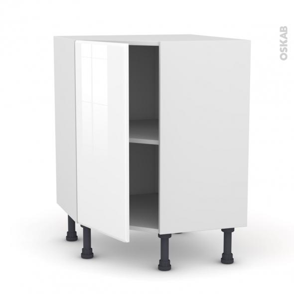 IRIS Blanc - Meuble angle prof.37  - 1 porte N°19 L40 - L65xH70xP37