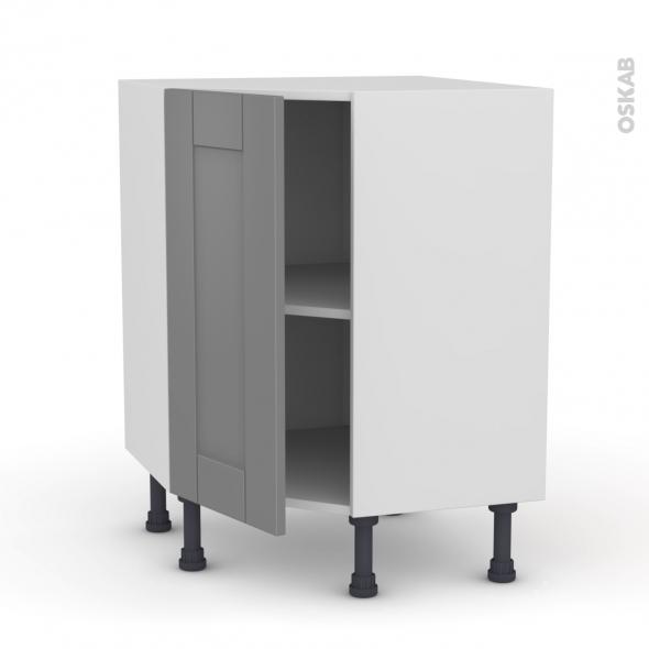 Meuble de cuisine - Angle bas - FILIPEN Gris - 1 porte N°19 L40 cm - L65 x H70 x P37cm