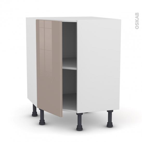Meuble de cuisine - Angle bas - KERIA Moka - 1 porte N°23 L40 cm - L65 x H92 x P37cm
