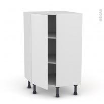 GINKO Blanc - Meuble angle prof.37  - 1 porte N°23 L40 - L65xH92xP37
