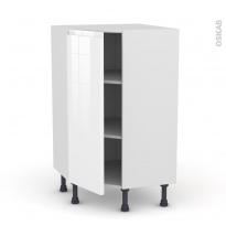 IPOMA Blanc - Meuble angle prof.37  - 1 porte N°23 L40 - L65xH92xP37