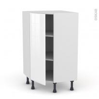 Meuble de cuisine - Angle bas - IRIS Blanc - 1 porte N°23 L40 cm - L65 x H92 x P37cm