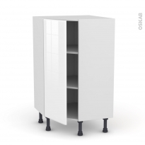 IRIS Blanc - Meuble angle prof.37  - 1 porte N°23 L40 - L65xH92xP37