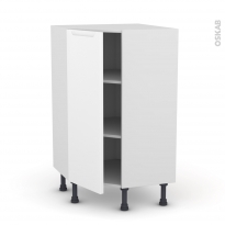 Meuble de cuisine - Angle bas - PIMA Blanc - 1 porte N°23 L40 cm - L65 x H92 x P37cm