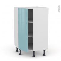 KERIA Bleu - Meuble angle prof.37  - 1 porte N°23 L40 - L65xH92xP37