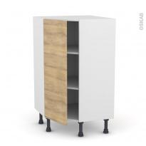 Meuble de cuisine - Angle bas - HOSTA Chêne naturel - 1 porte N°23 L40 cm - L65 x H92 x P37cm