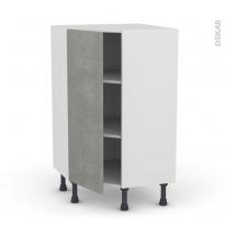 Meuble de cuisine - Angle bas - FAKTO Béton - 1 porte N°23 L40 cm - L65 x H92 x P37cm