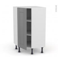 Meuble de cuisine - Angle bas - FILIPEN Gris - 1 porte N°23 L40 cm - L65 x H92 x P37cm