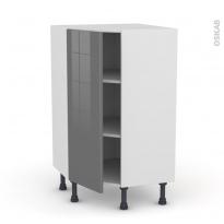 Meuble de cuisine - Angle bas - STECIA Gris - 1 porte N°23 L40 cm - L65 x H92 x P37cm