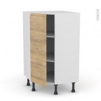 Meuble de cuisine - Angle bas - IPOMA Chêne naturel - 1 porte N°23 L40 cm - L65 x H92 x P37cm