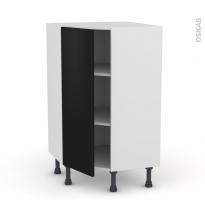 Meuble de cuisine - Angle bas - GINKO Noir - 1 porte N°23 L40 cm - L65 x H92 x P37cm