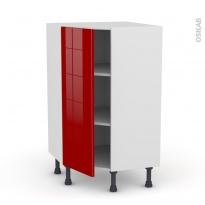 Meuble de cuisine - Angle bas - STECIA Rouge - 1 porte N°23 L40 cm - L65 x H92 x P37cm