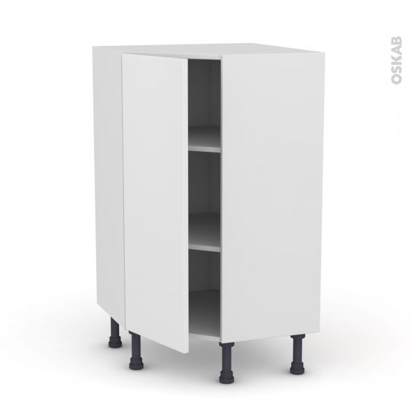 Meuble de cuisine - Angle bas - GINKO Blanc - 1 porte N°23 L40 cm - L65 x H92 x P37cm
