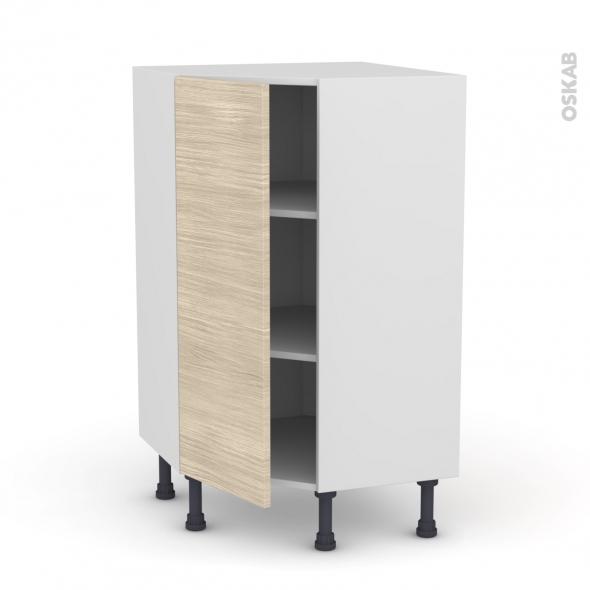 Meuble de cuisine - Angle bas - STILO Noyer Blanchi - 1 porte N°23 L40 cm - L65 x H92 x P37cm