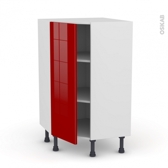 STECIA Rouge - Meuble angle prof.37  - 1 porte N°23 L40 - L65xH92xP37